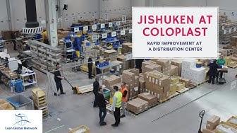 Jishuken en un centro de distribución de Coloplast